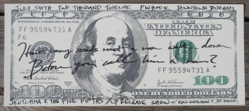 """You take the lyrics to 'Blowin' in the Wind' / Write 'em on the bills with Ben Franklin"""